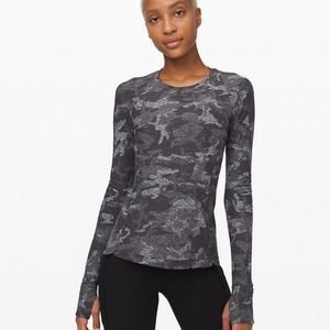 Lululemon Runderful Long Sleeve *grey camo